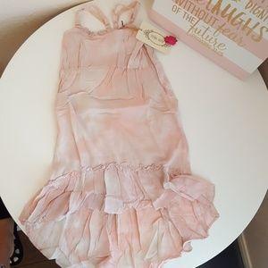 Beautiful spaghetti straps toddler girl dress